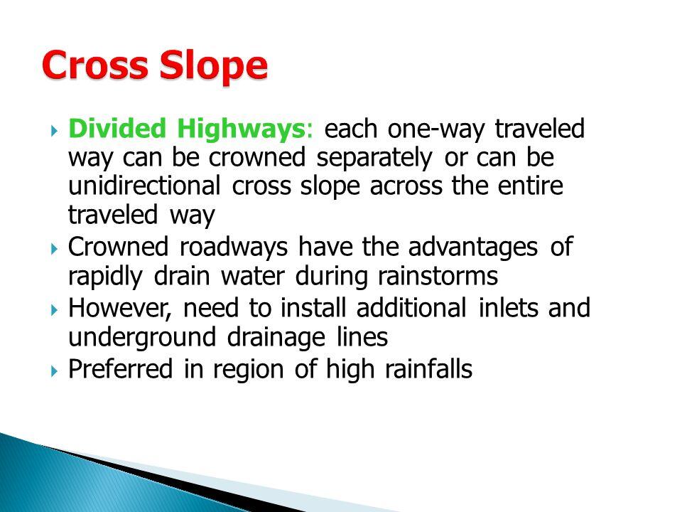 Cross Slope