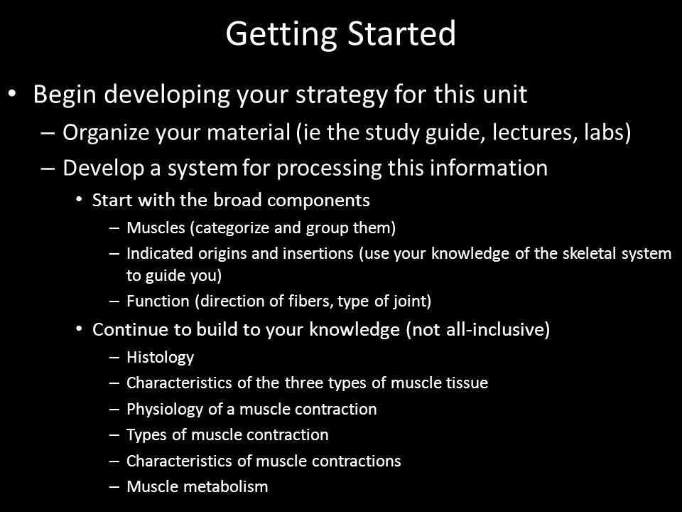 Getting Started Begin developing your strategy for this unit