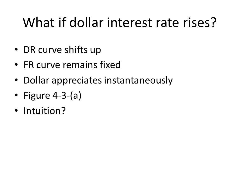 What if dollar interest rate rises