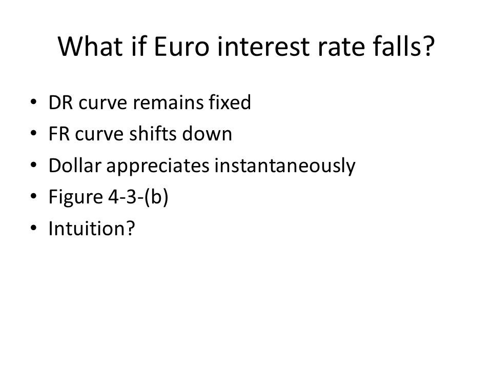 What if Euro interest rate falls