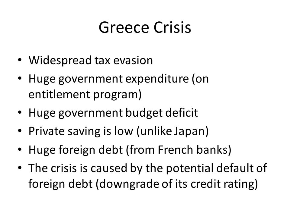 Greece Crisis Widespread tax evasion