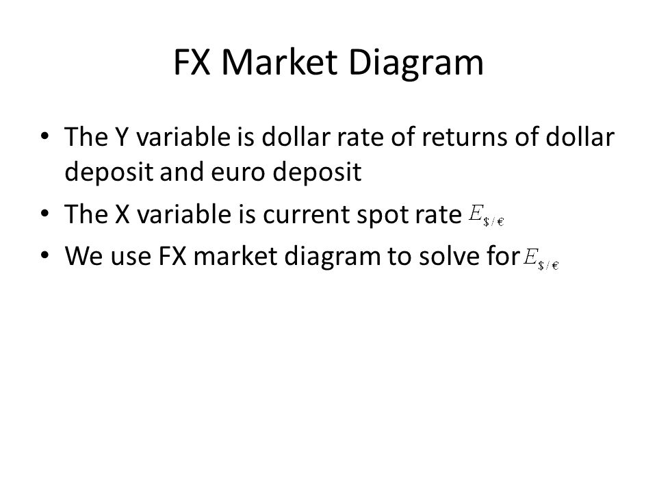 FX Market Diagram The Y variable is dollar rate of returns of dollar deposit and euro deposit. The X variable is current spot rate.