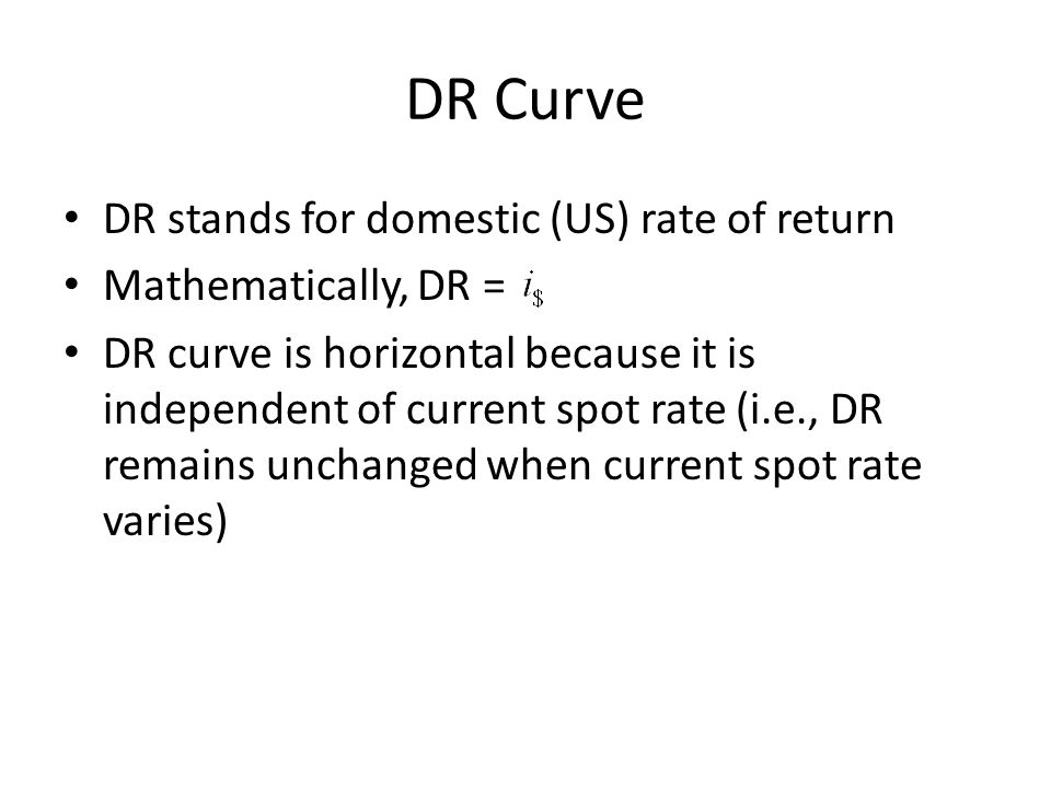 DR Curve DR stands for domestic (US) rate of return