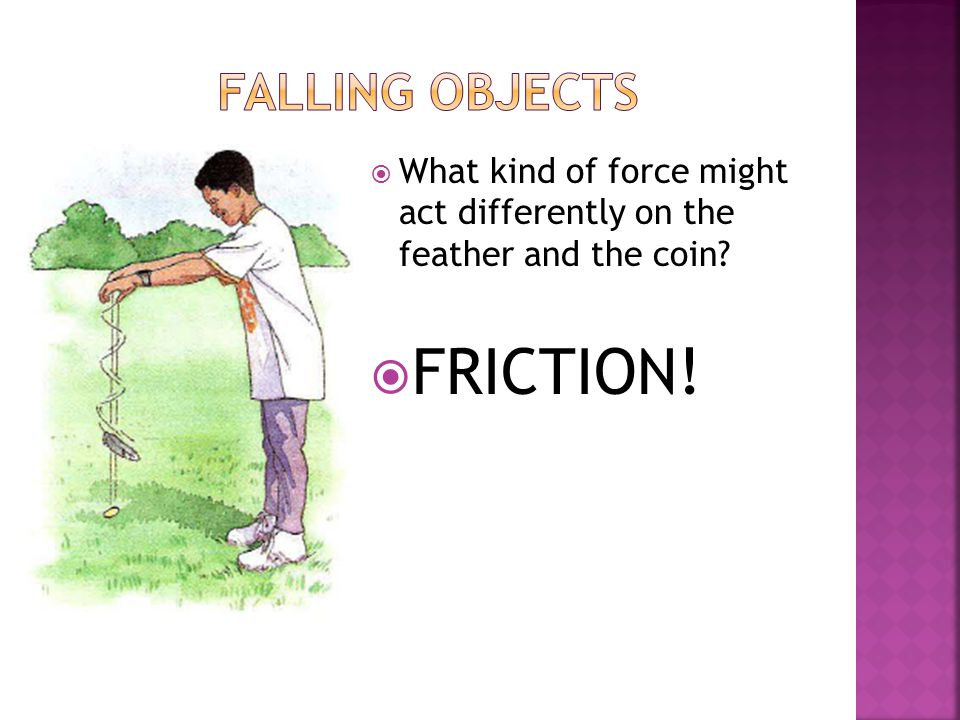 FRICTION! Falling Objects