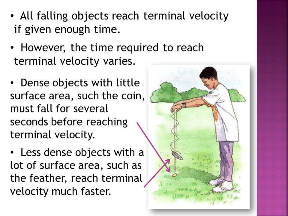 All falling objects reach terminal velocity if given enough time.