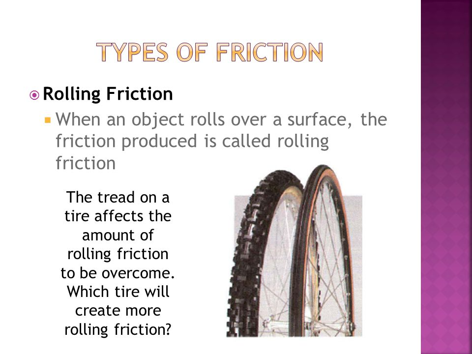 Types of Friction Rolling Friction
