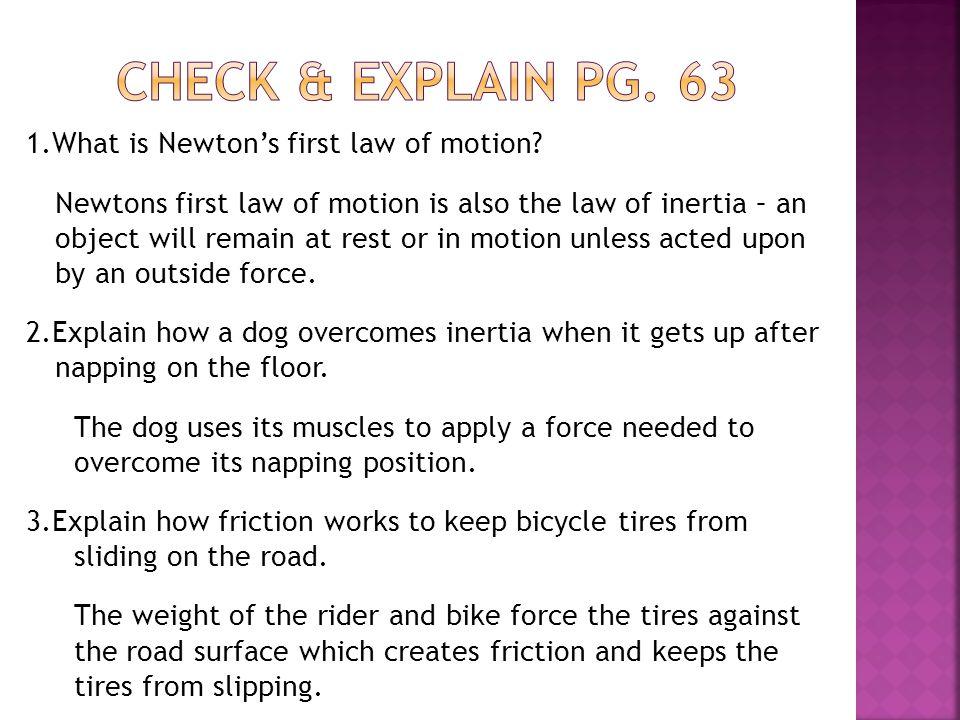 Check & explain pg. 63