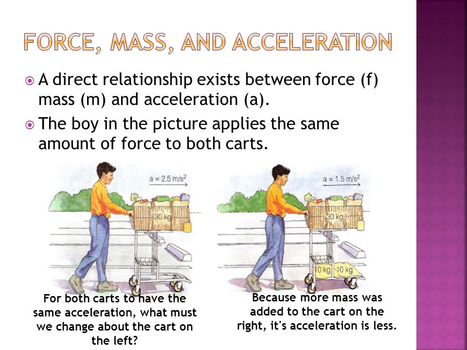 mass and acceleration relationship