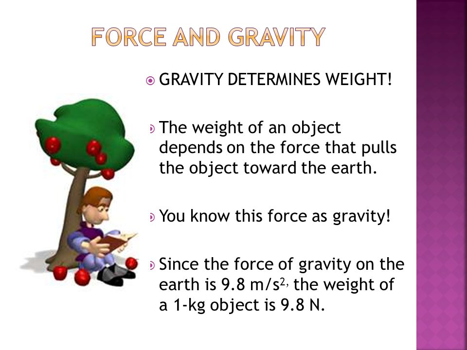 Force and Gravity GRAVITY DETERMINES WEIGHT!