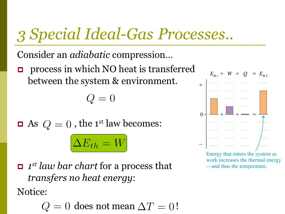3 Special Ideal-Gas Processes..