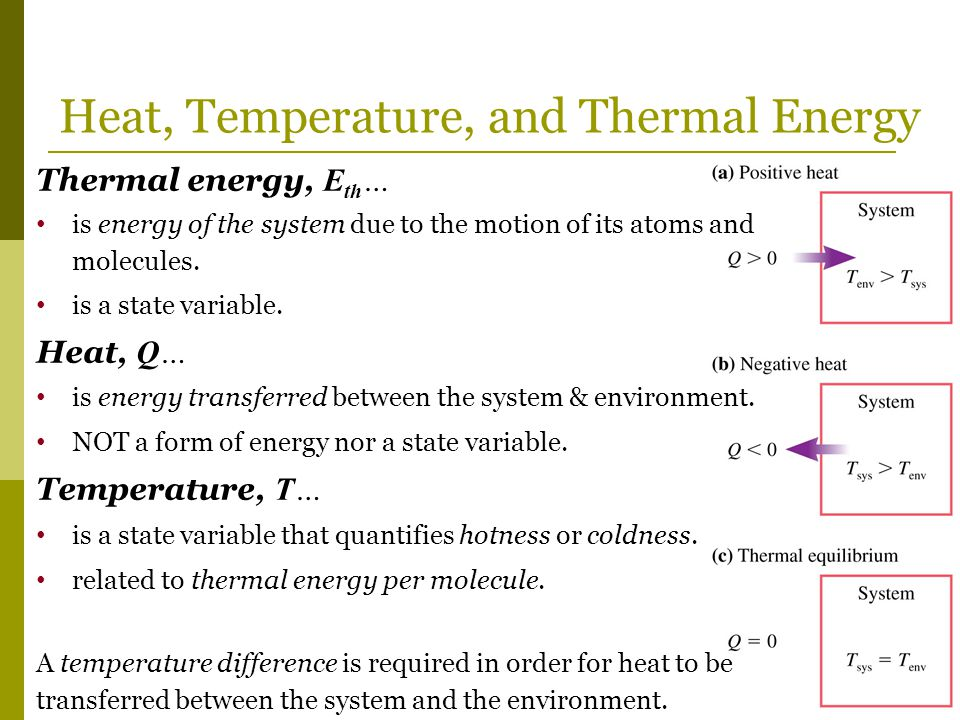 Heat, Temperature, and Thermal Energy