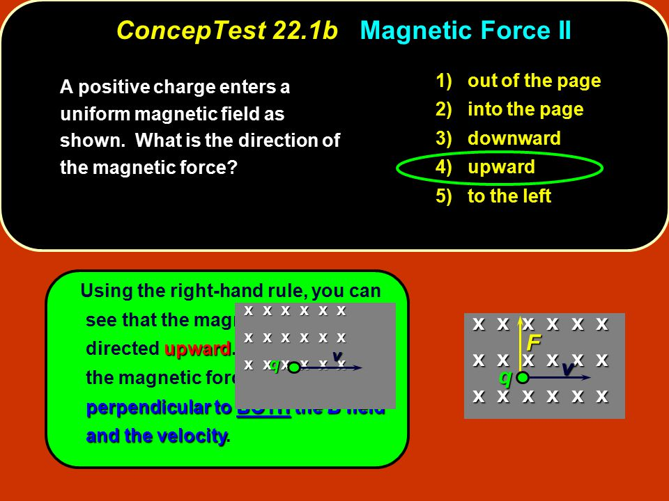 ConcepTest 22.1b Magnetic Force II