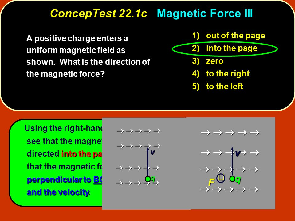 ConcepTest 22.1c Magnetic Force III