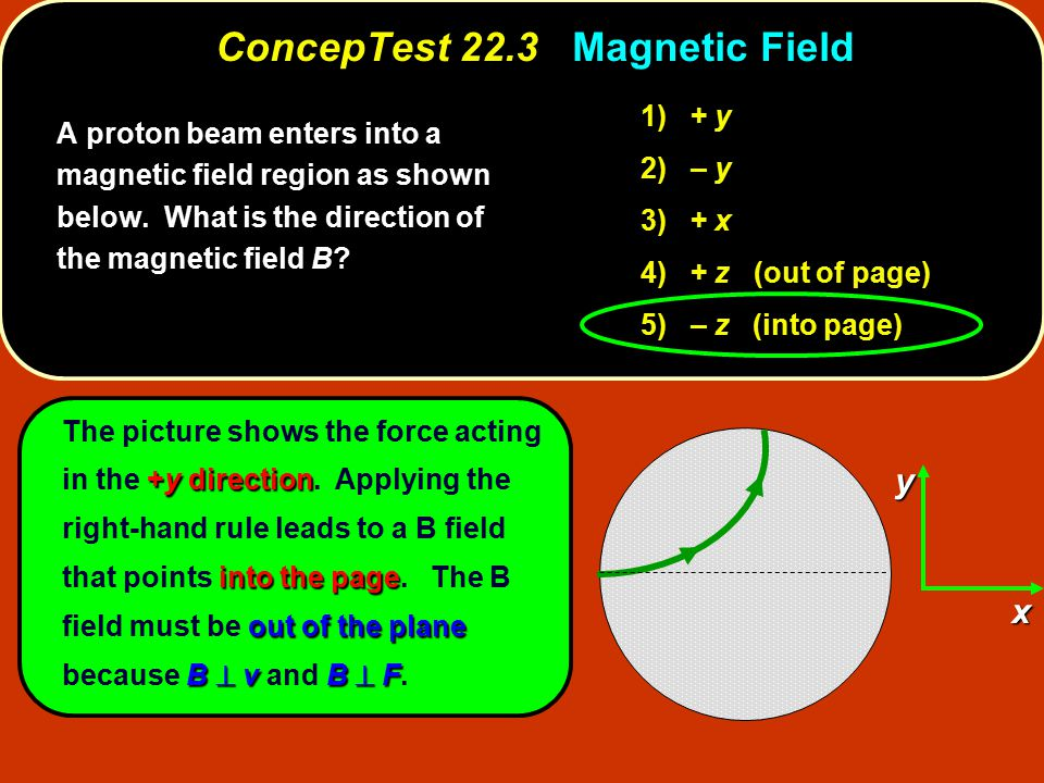 ConcepTest 22.3 Magnetic Field