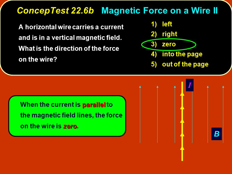 ConcepTest 22.6b Magnetic Force on a Wire II
