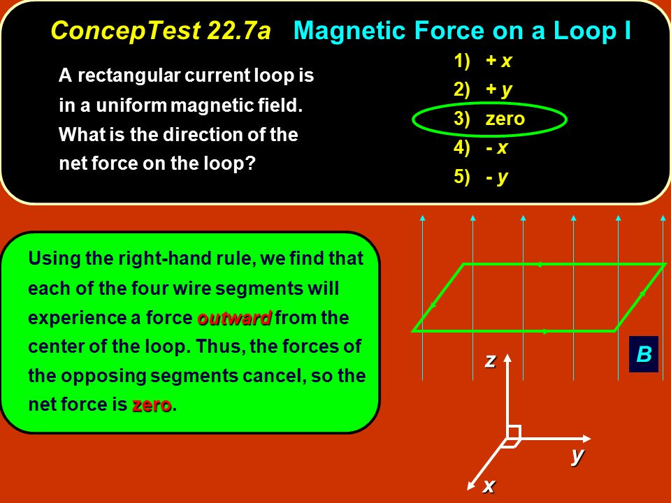 ConcepTest 22.7a Magnetic Force on a Loop I