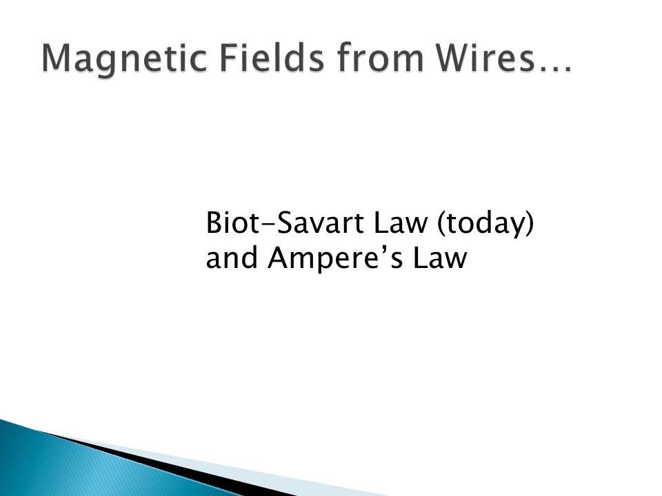Magnetic Fields from Wires…