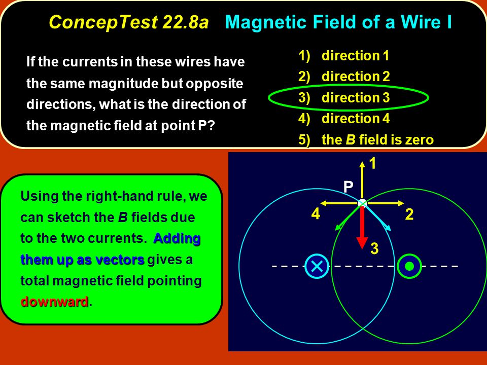 ConcepTest 22.8a Magnetic Field of a Wire I