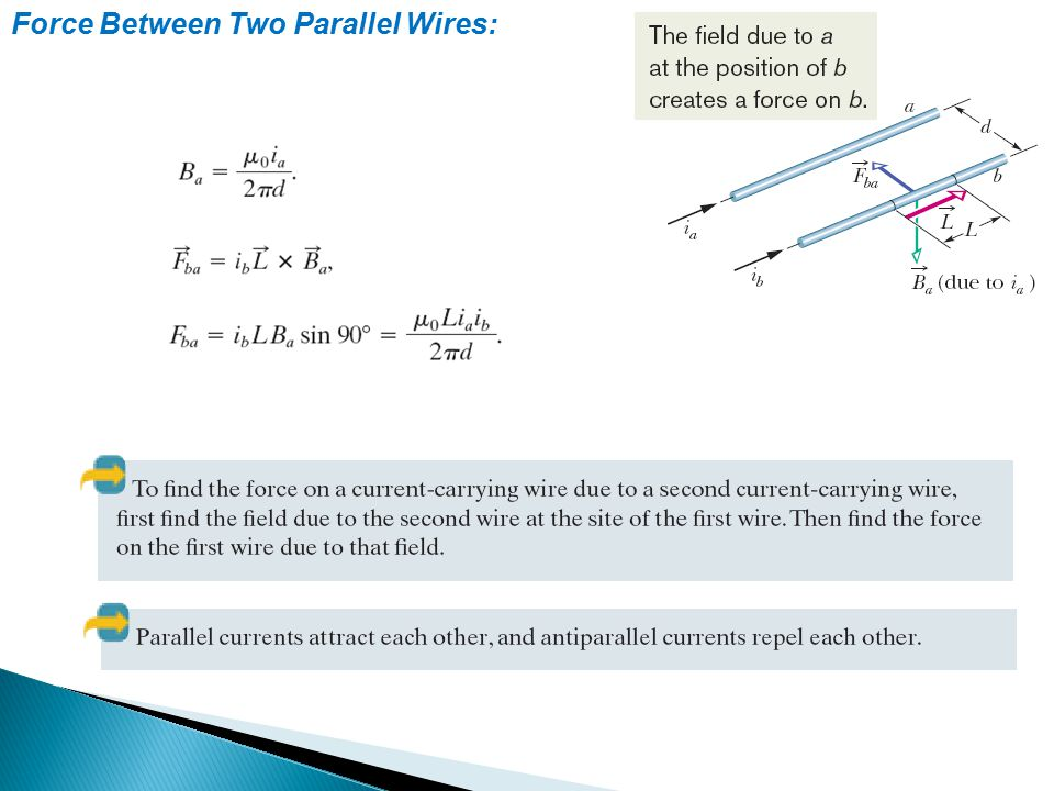 Force Between Two Parallel Wires: