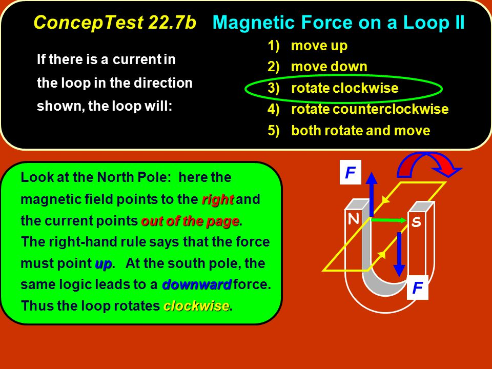 ConcepTest 22.7b Magnetic Force on a Loop II