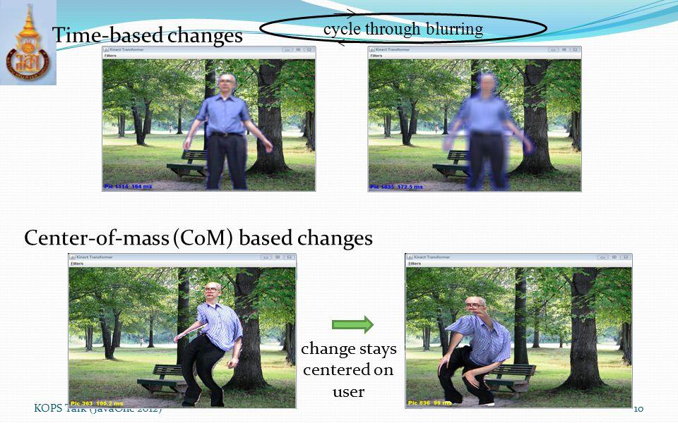 Center-of-mass (CoM) based changes