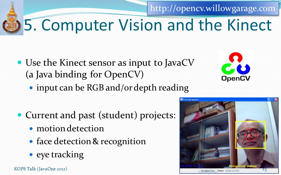 5. Computer Vision and the Kinect