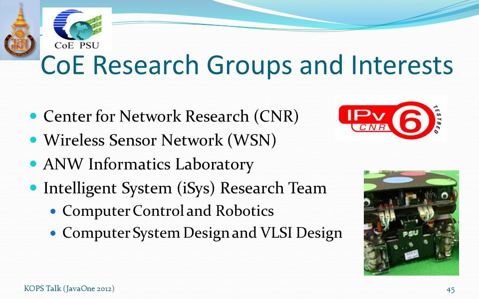 CoE Research Groups and Interests