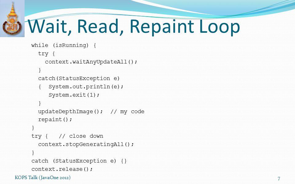 Wait, Read, Repaint Loop