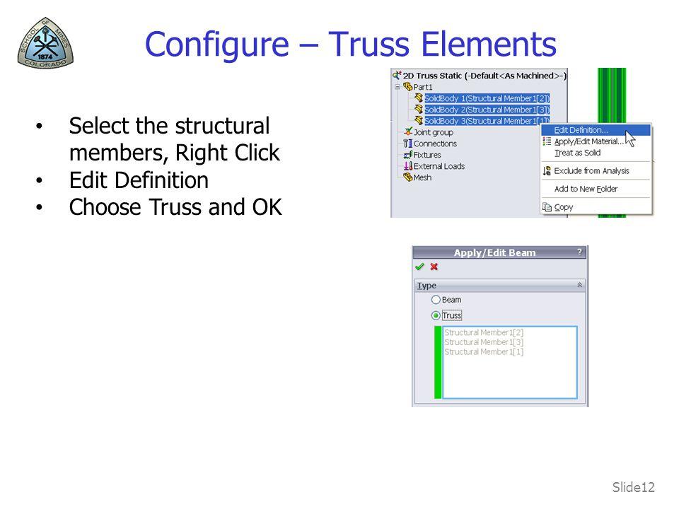 Configure – Truss Elements