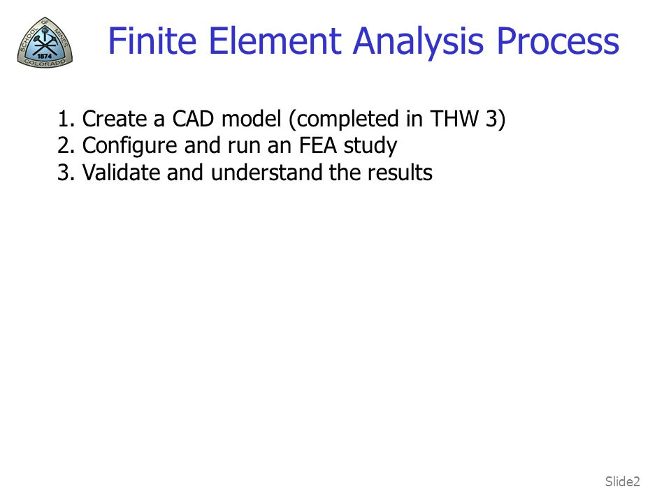 Finite Element Analysis Process