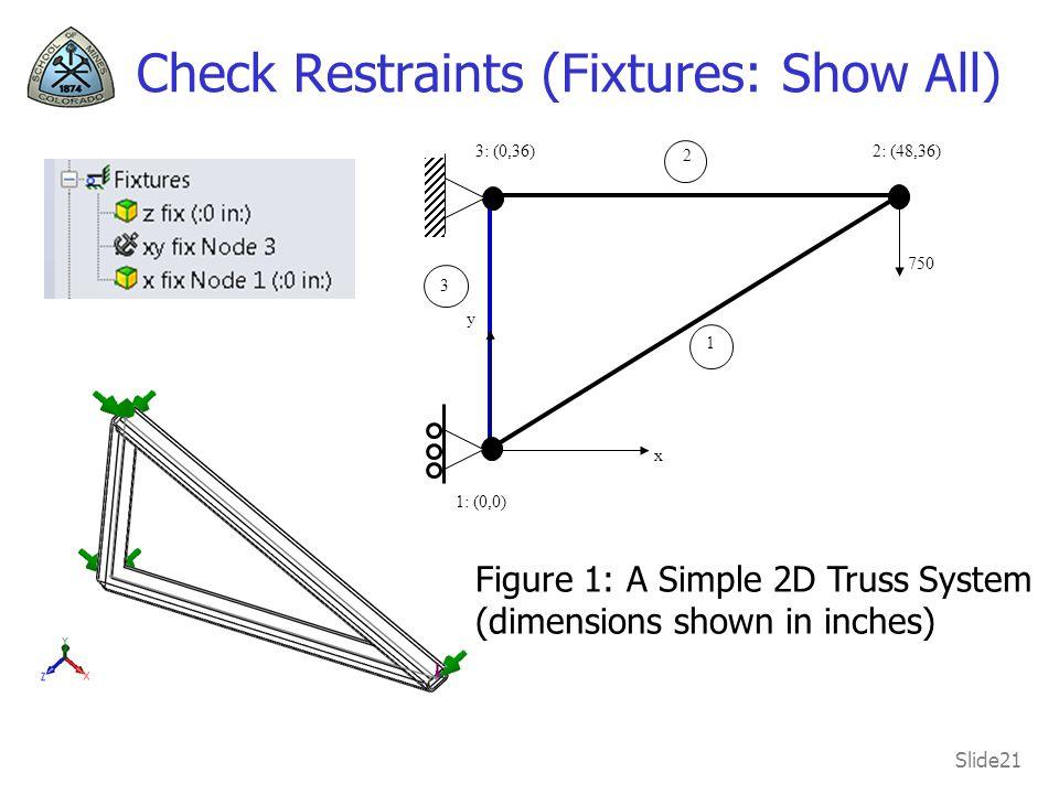 Check Restraints (Fixtures: Show All)