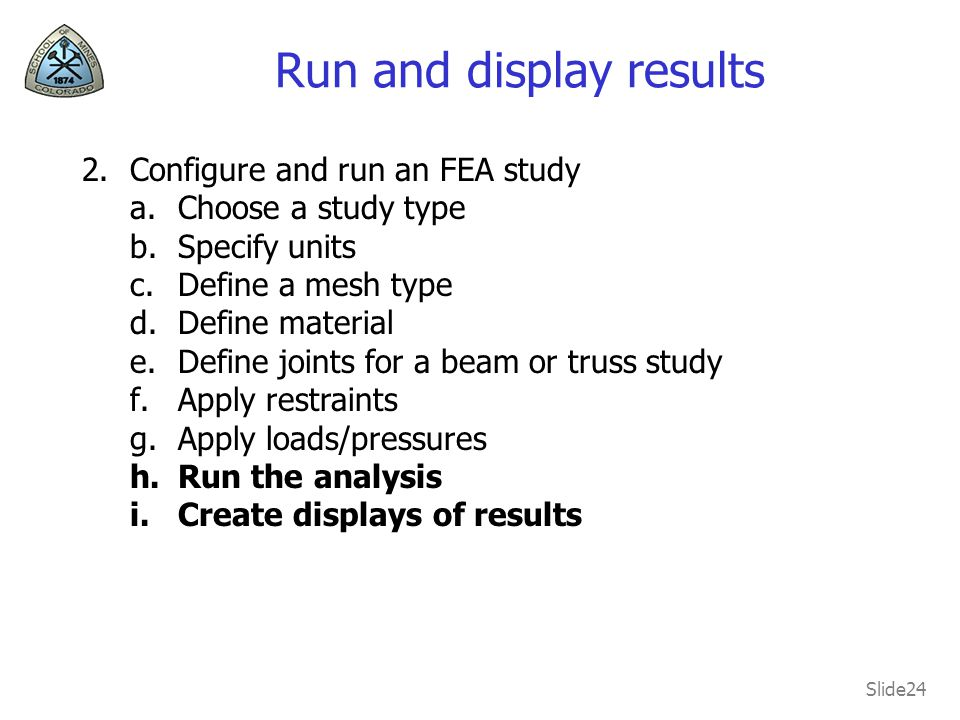 Run and display results
