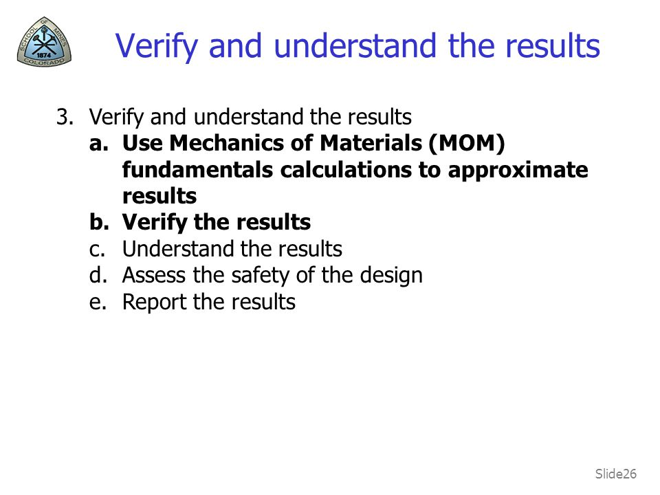Verify and understand the results