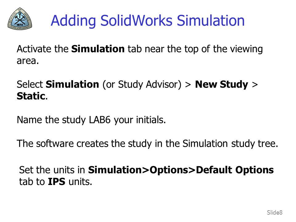 Adding SolidWorks Simulation