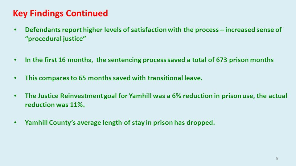 Key Findings in First 16 Months