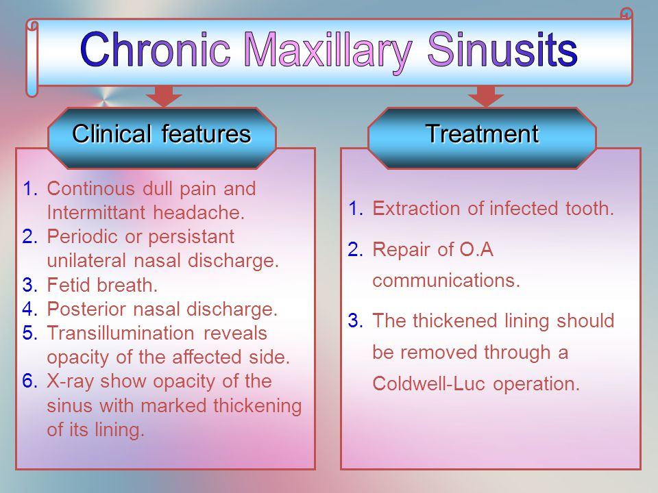 Chronic Maxillary Sinusits