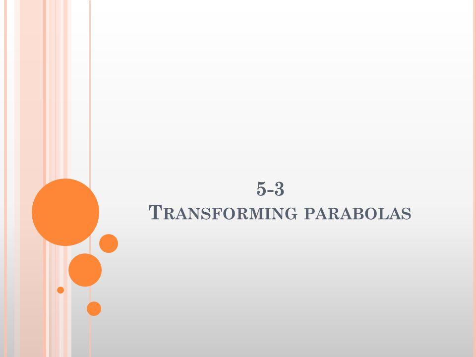 5-3 Transforming parabolas