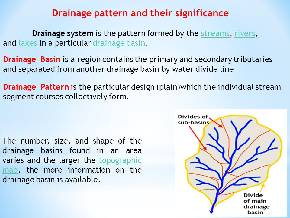 Drainage pattern and their significance