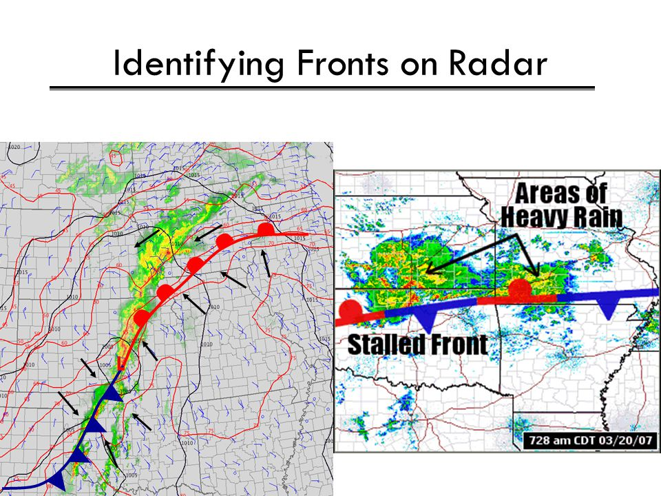 Identifying Fronts on Radar