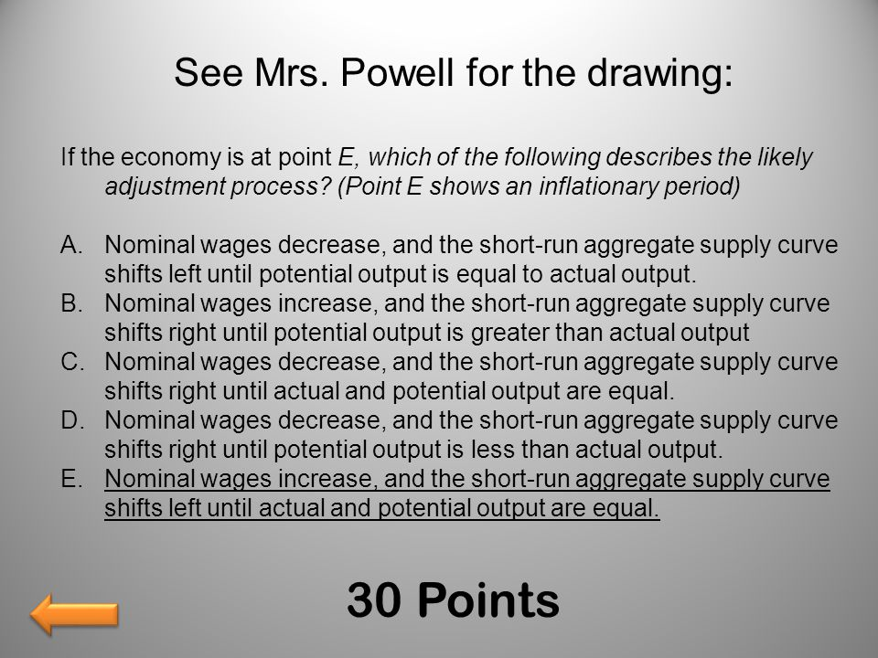 See Mrs. Powell for the drawing: