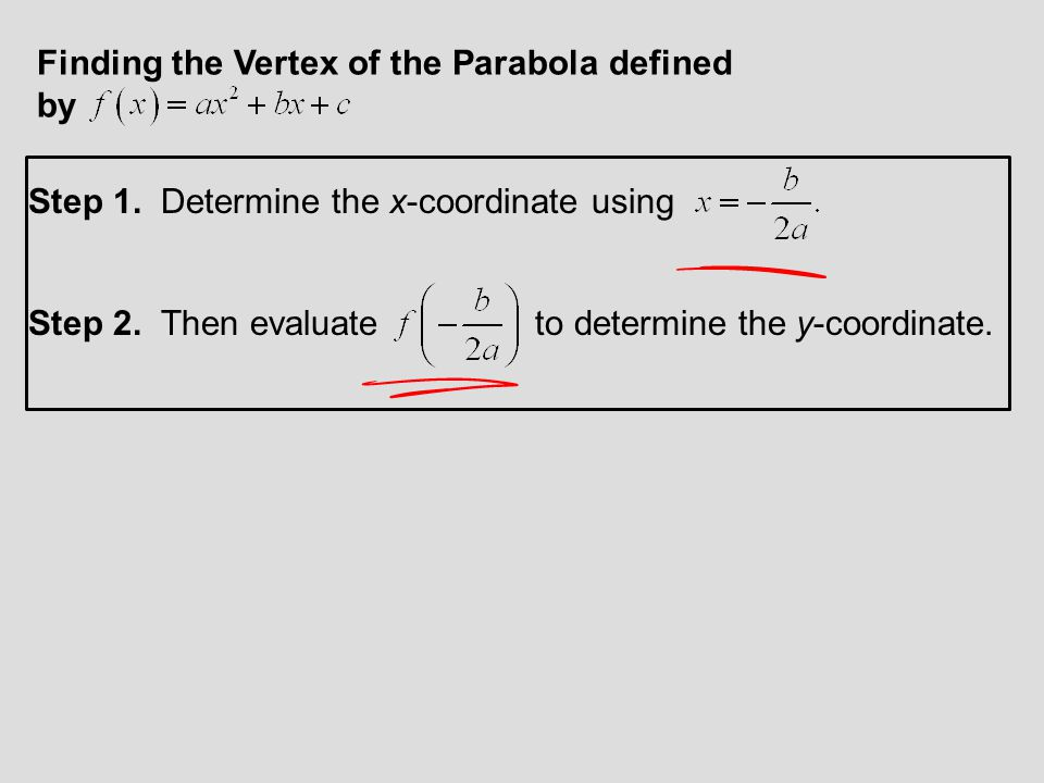 Finding the Vertex of the Parabola defined