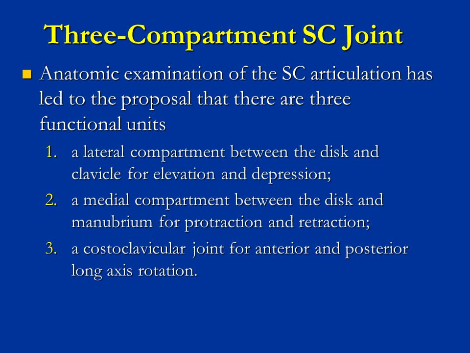 Three-Compartment SC Joint
