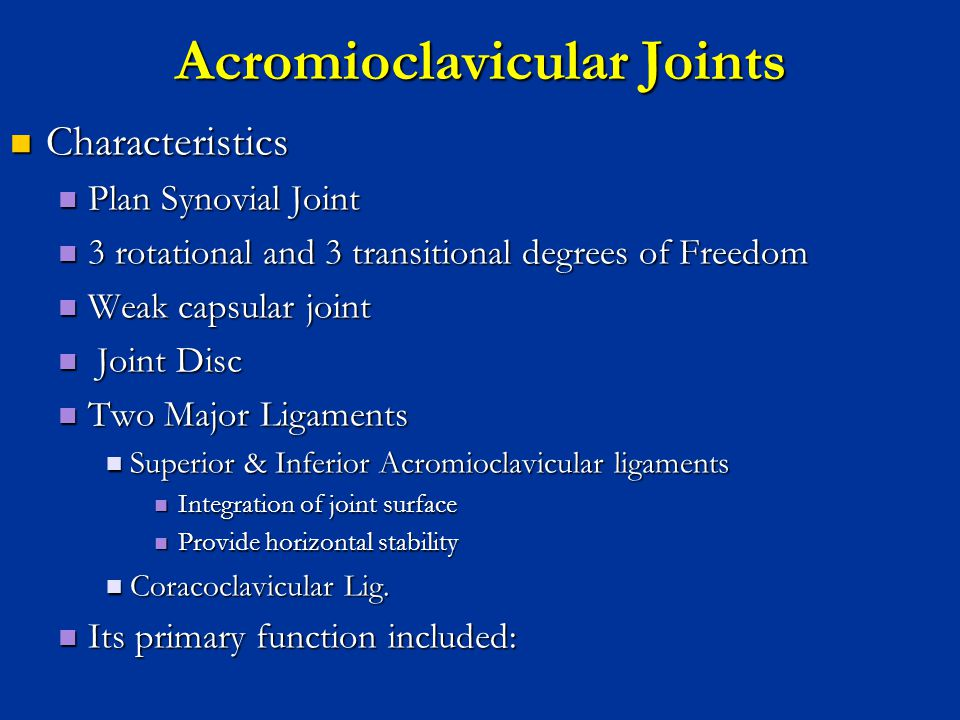 Acromioclavicular Joints
