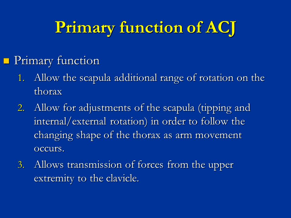 Primary function of ACJ