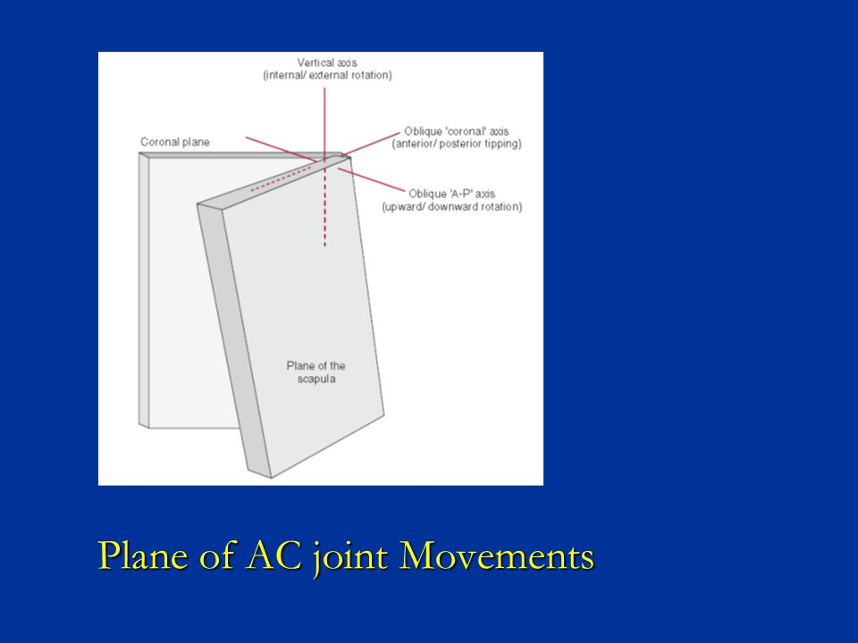 Plane of AC joint Movements