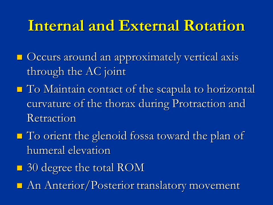 Internal and External Rotation