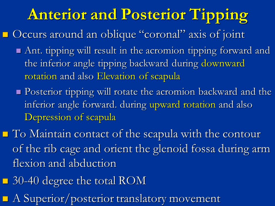 Anterior and Posterior Tipping