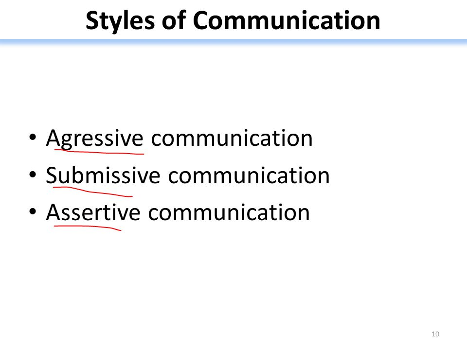 Styles of Communication