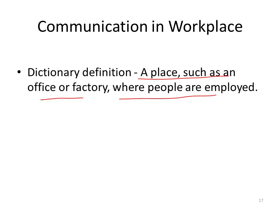Communication in Workplace