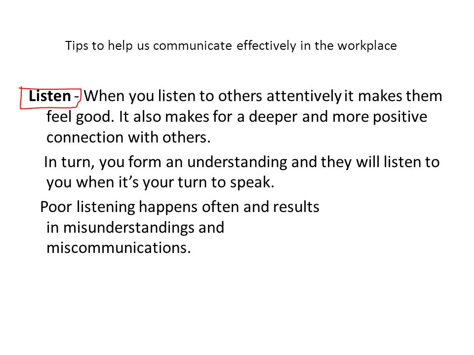 Tips to help us communicate effectively in the workplace